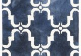 Blue and White Wool Rug Monroe Hand Tufted Wool Navy Blue Light Blue White area Rug
