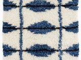 Blue and White Wool Rug Noma Indigo Woven Wool Rug