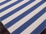 Blue and White Wool Rug Striped Pura Vida Wool Rug Blue Pura Vida Dias