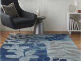 Blue area Rugs for Sale Monte Contemporary Botanical Blue area Rug Blue area