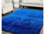 Blue area Rugs for Sale Shop Shag solid Electric Blue area Rug 5 X 7 On Sale