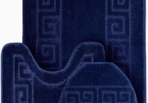 Blue Bath Rug Sets Wpm World Products Mart Bathroom Rugs Set 3 Piece Bath Pattern Rug 20×32 Large Contour Mats 20×20 with Lid Cover Navy