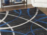 Blue Black and Grey Rug ashley Jenue Black Gray Blue Rug