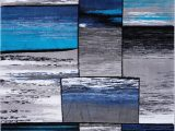 Blue Black Gray area Rug Copper Grey Turquoise area Rug