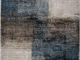 Blue Black Gray area Rug Jayesh Abstract Blue Black Beige area Rug