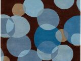 Blue Brown Circle area Rug Osteen Brown Blue area Rug