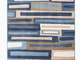 """Blue Brown Cream area Rug Romance Collection Rugs Blue Brown Cream White Geometric Abstract Design Premium soft area Rug 3 7"""" X 5 Rug Size Walmart"""