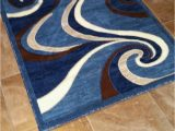 Blue Brown Rug Contemporary Modern area Rug Contemporary Blue Brown Abstract Americana