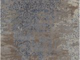 Blue Brown Rug Contemporary Rupec Collection Hand Tufted area Rug In Grey Blue Brown