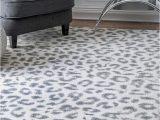 Blue Cheetah Print Rug Nuloom Contemporary Modern Animal Leopard Print area Rug In