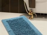 Blue Chenille Bath Rug Bath Rug Cotton and Chenille 34×21 In Anti Skid Blue Long Noodle Loops
