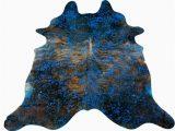 Blue Cow Skin Rug Pin On Cowhide Rugs