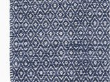 Blue Diamond Pattern Rug Diamond Chenille Blue Cotton Rug