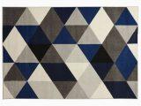Blue Diamond Pattern Rug Millie Blue Diamond Pattern Rug