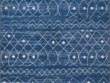Blue Diamond Pattern Rug Moroccan Trellis Diamond Pattern area Rug Blue White