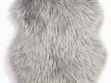 """Blue Faux Sheepskin Rug Faux Fur """"sheepskin"""" Rug by Flair Rugs Colour Grey"""