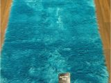 Blue Faux Sheepskin Rug Faux Fur Rug 75cm X 120cm In Teal Latex Backed Fully Washable