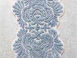 Blue Floral Bath Rug Riviera Bath Mat