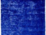 Blue Fuzzy area Rug Handmade Shag Navy Blue area Rug