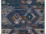 Blue Gold area Rug Elan southwestern Handmade Blue Gold area Rug