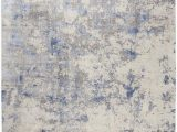 Blue Gray and Beige area Rug Nourison Silky Textures Sly04 Blue Ivory Grey area Rug