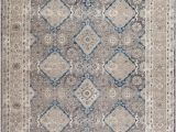 Blue Gray and Beige area Rug Statham oriental Gray Beige area Rug