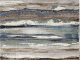 Blue Gray and Brown area Rug Jayesh Abstract Blue Brown area Rug