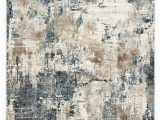 Blue Gray and Brown area Rug Sisario Abstract Blue & Gray area Rug