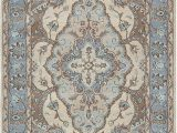 Blue Gray and Tan area Rug Amazon Rizzy Home Valintino Collection Wool area Rug 5