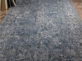 Blue Gray and Tan area Rug Myrick Hand Knotted Blue Tan area Rug