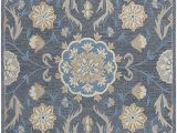 Blue Gray and Tan area Rug Rizzy Home Resonant Collection Wool area Rug 9 X 12 Dark Gray Blue Gray Tan Coco Gray Floral