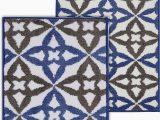Blue Gray Bath Rug Amazon Chesapeake Mf Allegro Blue Grey 2pc Bath Set 17