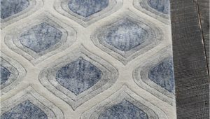 Blue Gray Bath Rug Pin On Carpet