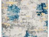 Blue Gray Cream area Rug Sianna Abstract Cream Gray Blue area Rug