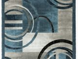 Blue Gray White area Rugs Delana Abstract Blue Gray Ivory area Rug