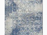 Blue Gray White area Rugs Gossamer Blue Grey area Rug