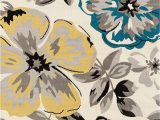 Blue Gray Yellow area Rug Floral Gray Grey Yellow Blue area Rug – Modern Rugs and Decor