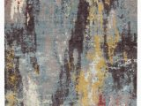 Blue Gray Yellow area Rug Groce Abstract Blue Gray Yellow area Rug