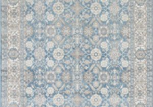 Blue Green oriental Rug Silver ash Gray Ivory Light Blue Faded oriental Distressed