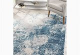 Blue Grey area Rugs 8×10 Harmony Collection Modern Abstract Indoor 8×10 area Rug