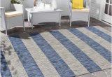Blue Grey area Rugs 8×10 Lr Home Catalina Coastal Blue Gray 8×10 Stripes Indoor