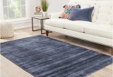 Blue Grey area Rugs 8×10 Shop Lizette Handmade solid Blue Gray area Rug 8 X 10