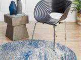 Blue Grey Round Rug Casandra Dunescape Modern Blue Grey Round Rug