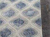 Blue Grey Rug 8×10 Clara Collection Hand Tufted area Rug In Blue Grey & White