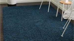 Blue Grey Shaggy Rug 5 X 8 solid Shag Rug