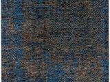 Blue Grey Wool Rug Ultimate Modern Deconstruction Blue Grey Chocolate Rug
