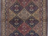 Blue Hand Knotted Wool Rug area Rug for Living Room Bedroom
