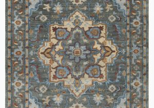 Blue Hand Knotted Wool Rug Carlisle Hand Knotted Wool Dark Green Bright Blue area Rug