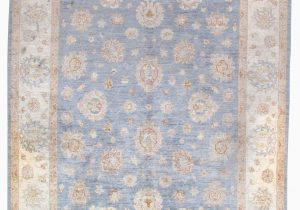 Blue Hand Knotted Wool Rug Cedrick Hand Knotted Wool Blue Brown area Rug