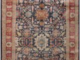 Blue Hand Knotted Wool Rug Rugsville Floral Persian Hand Knotted Blue Rust Wool Rug 270 X 360